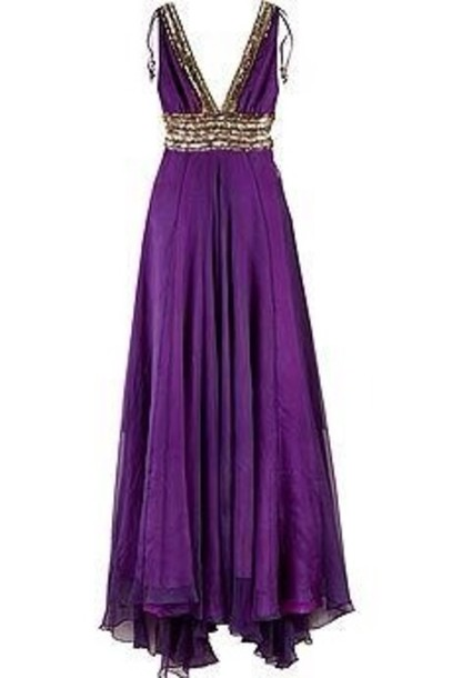 dress purple prom dress