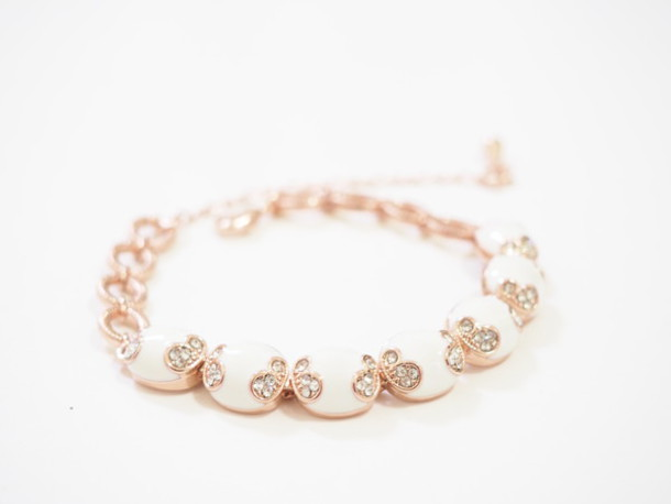 Jewels Damask Flowers Floral Cute Bracelets Charm Bracelet Rose Gold Victorian Gift Ideas Lovely