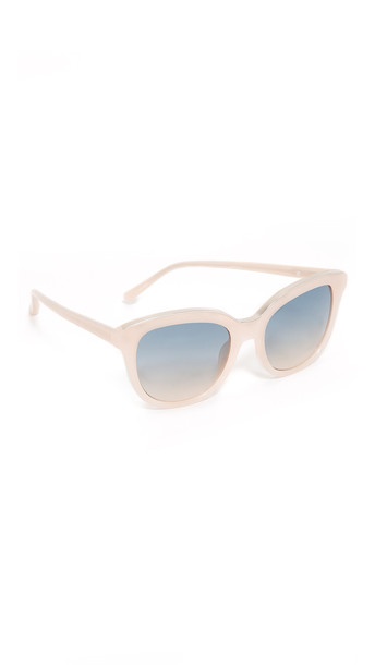 No. 21 Oval Cat Sunglasses - Milky Pink/Blue