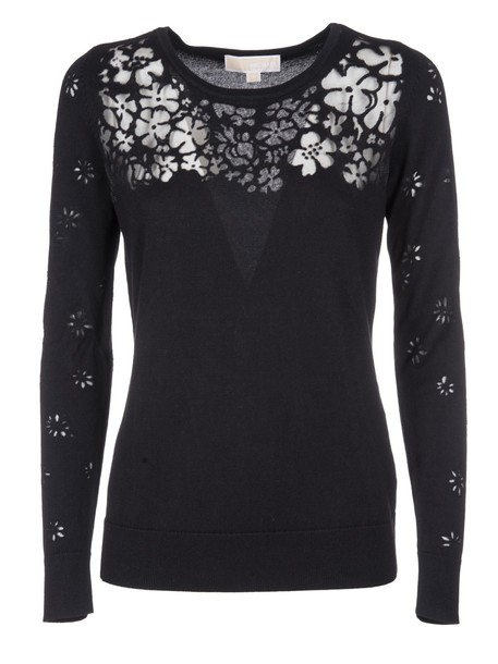 sweater embellished floral black
