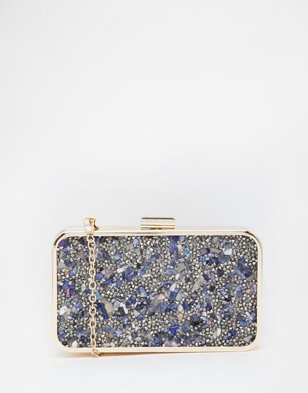 bag clutch metallic clutch gold blue