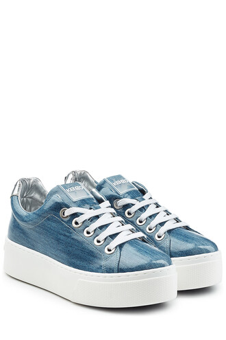 denim sneakers platform sneakers blue shoes
