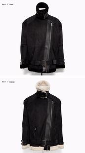sherling,buckles,winter jacket,browncoat,fur,suede,vintage,jacket,coat
