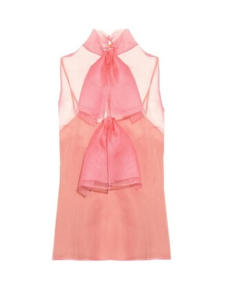 top bow silk pink