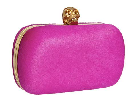 Alexander McQueen Britanna Skull Box Clutch Pink - Zappos Couture