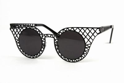 Cat eye round metal shades