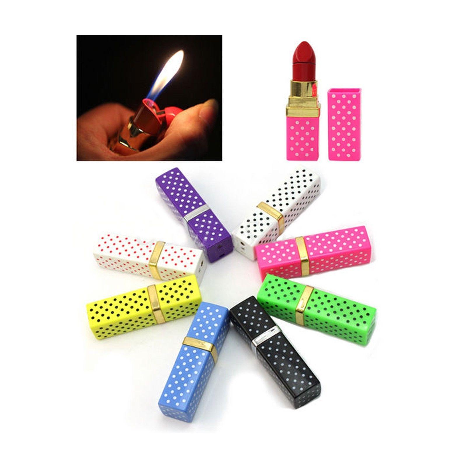Lipstick Shaped Cigarette Refillable Butane Gas Flame Torch Lighter Gift Hot TE   eBay
