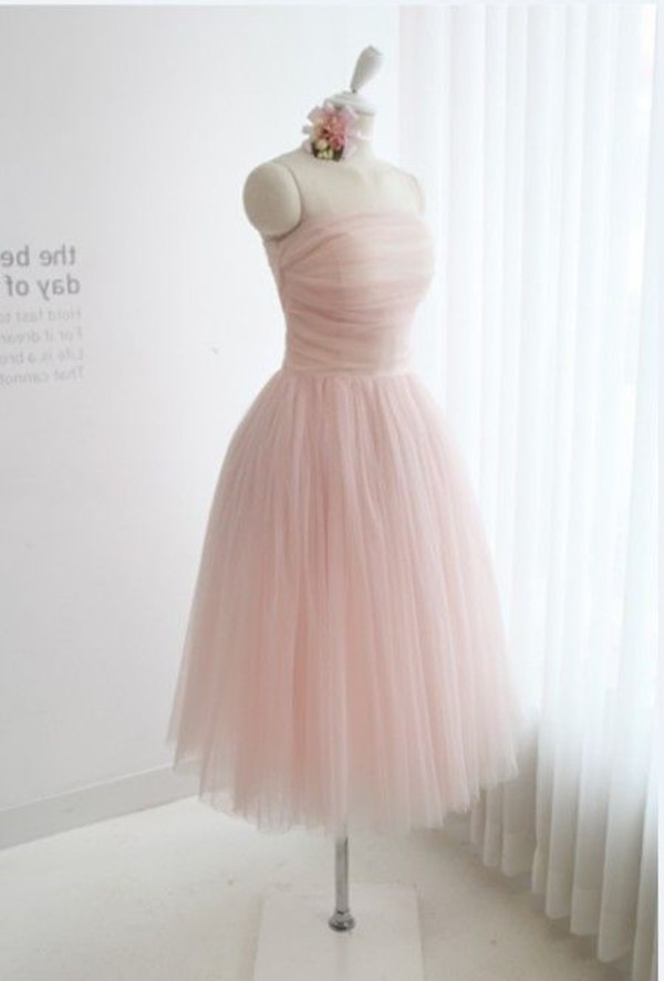 clothes pink dress bridesmaid tulle skirt baby pink