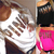 Women PINK Print Long Sleeve Casual Off Shoulder Blouse Tops