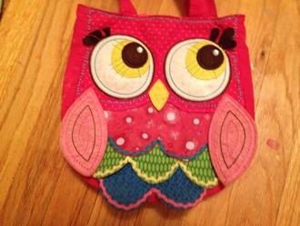 bag owl felt