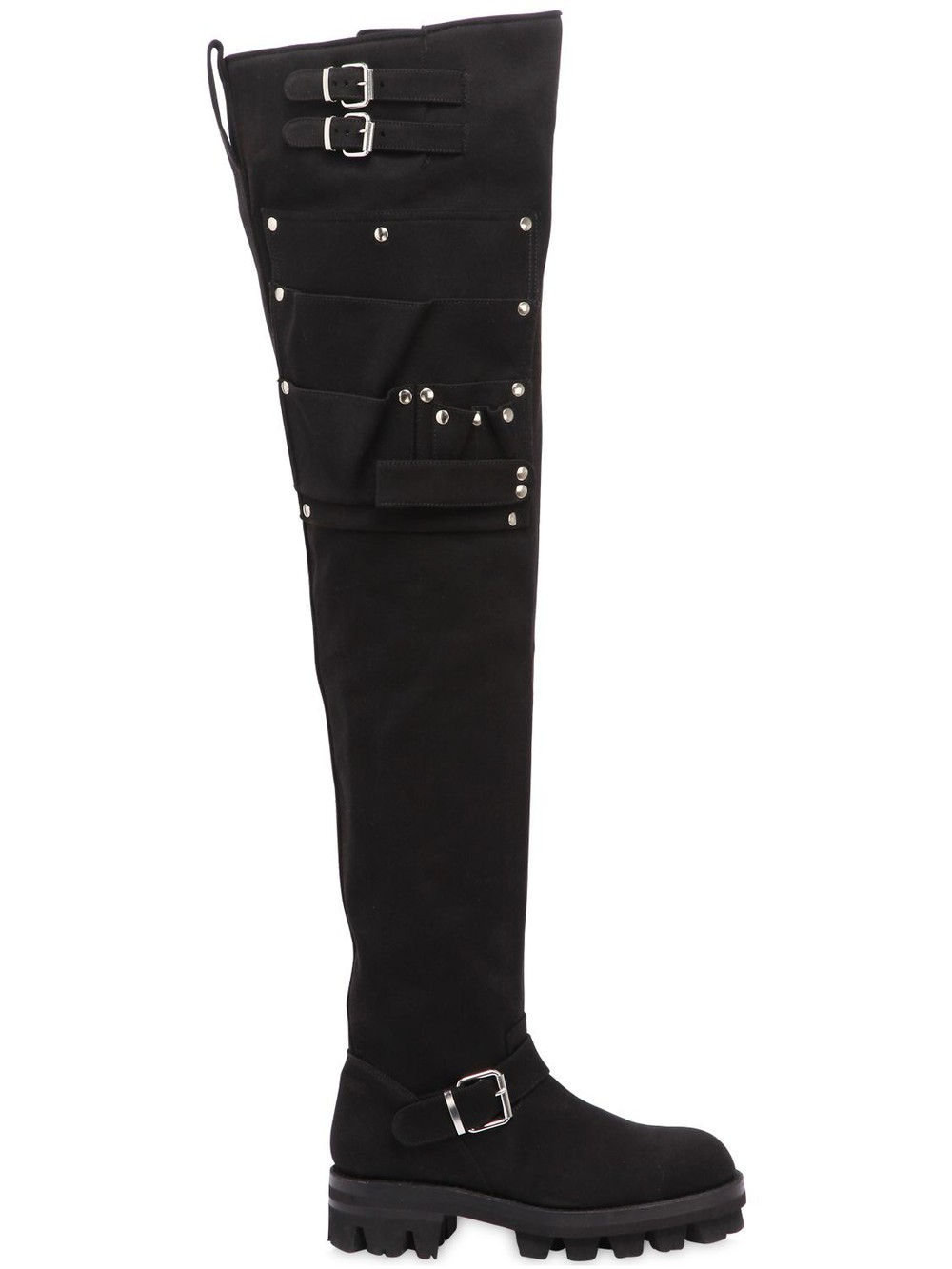 ALYX 40mm Utility Over The Knee Canvas Boots in black