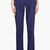 veronique branquinho navy blue belted cotton trousers