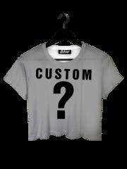 Custom crop tee