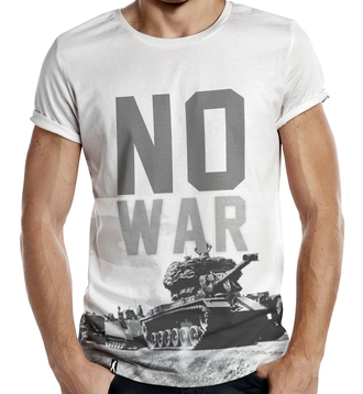 t-shirt no war no more war world peace peace army gun all over print printed t-shirt