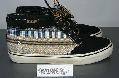 Vans chukka boot ca nordic pack black 8.5 us 41 vnds with box rare navajo print