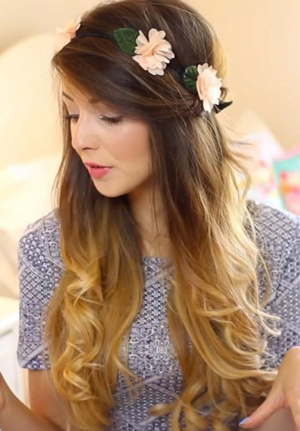 hair accessory flower crown zoella