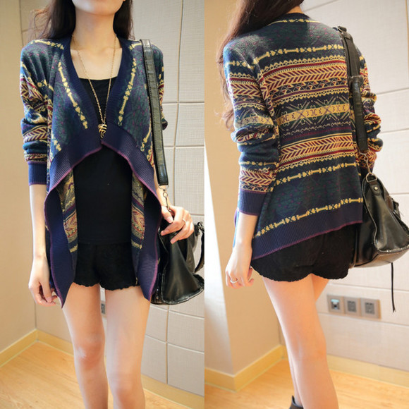 lookbook i4out clothes look streetstyle streetwear cardigan aztec