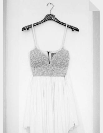 rhinestone whitedress