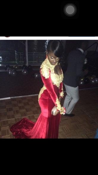 dress prom dress mermaid prom dress red mermaid prom dress