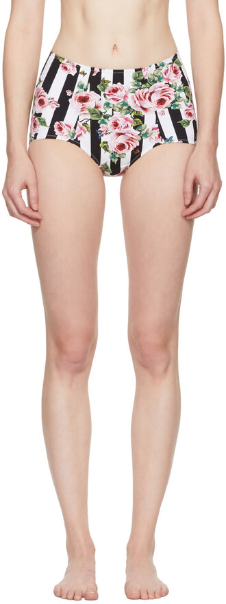 bikini bikini bottoms rose high multicolor swimwear