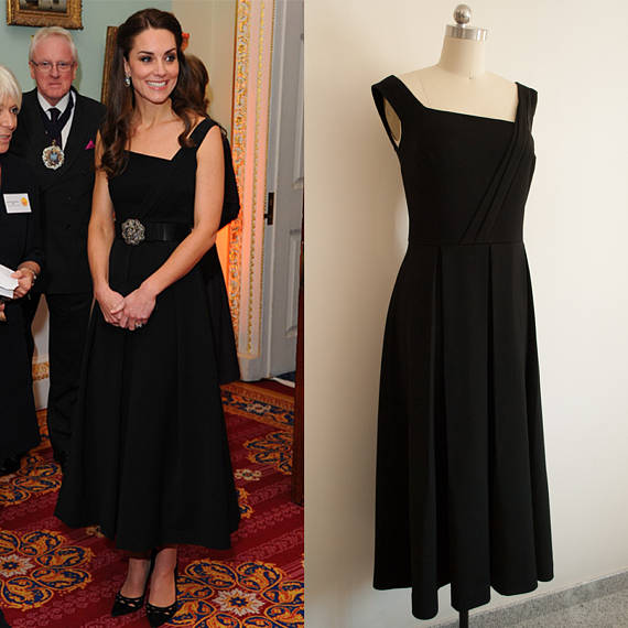 Kate Middleton Evening Red Dress Preen Finella Dress Off