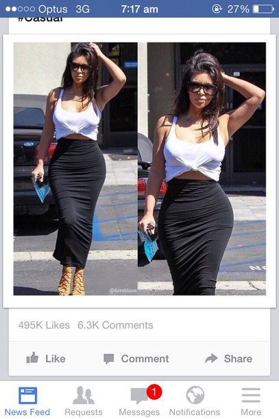 Kim Kardashian Black Skirt - Shop for Kim Kardashian Black Skirt ...