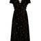 Glitter-star embellished velvet dress