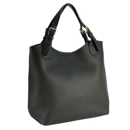Black Olivia Shopper | Pebble Grain  Leather | GiGi New York