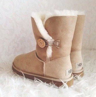 shoes uggs boots bailey bow brown boots furry boots