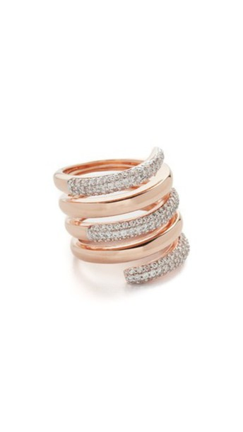 Bronzallure rose gold rose clear ring gold jewels