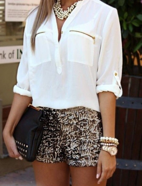 blouse white shirt zip