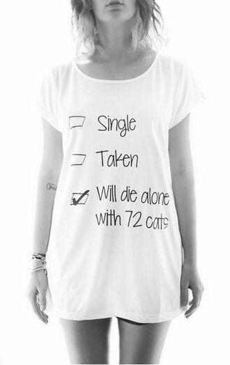 t-shirt tshirt design cat shirt die with cats shirt graphic tee cute shirt white shirt funny shirt