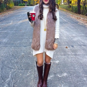 jacket fur vest fur coat fur coat vest fashion fall outfits fall sweater fall fashion warm faux fur vest