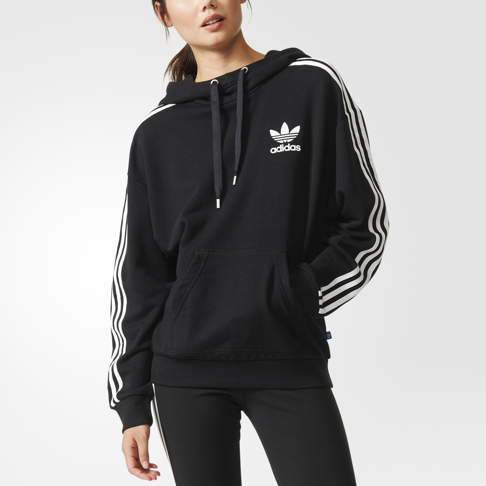 d9f2316bb0a8 adidas 3-Stripes Hoodie - Black