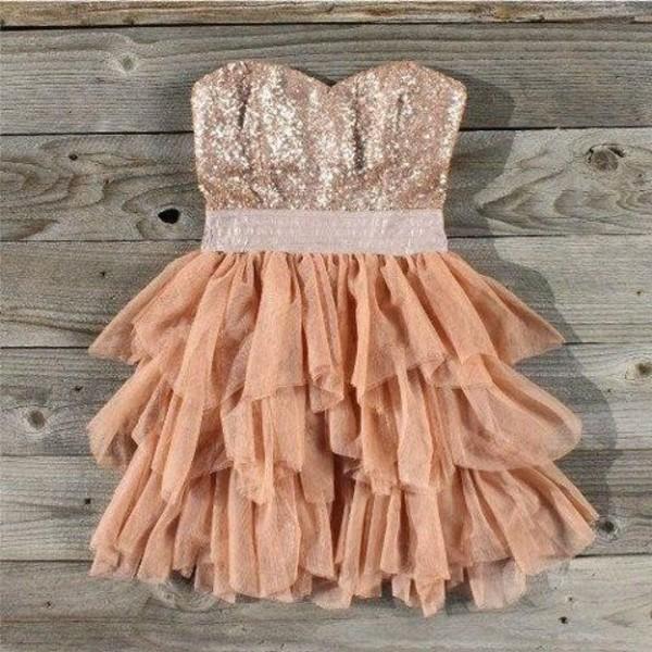 Tan Sweet 16 Dresses