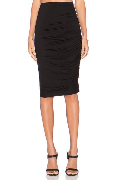 alice + olivia skirt draped skirt draped black