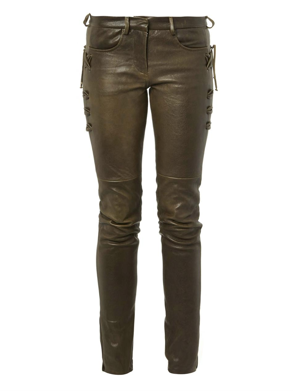 Haper skinny-leg leather trousers | Isabel Marant | MATCHESFAS...