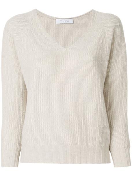 Cruciani sweater women nude wool