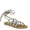 Office soulmate espadrille tie up sandals silver leather - sandals