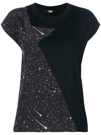 t-shirt shirt women print black top
