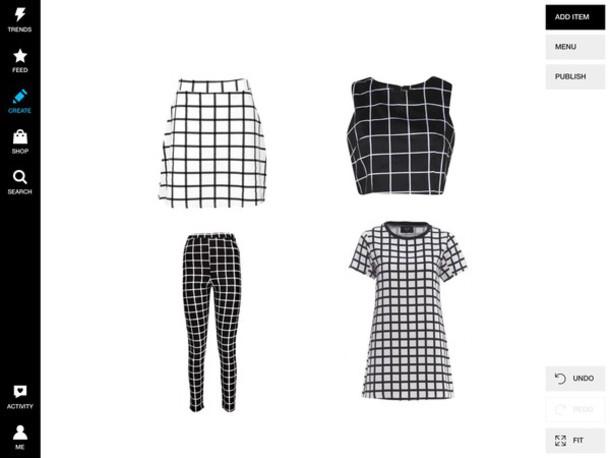 dress leggings crop tops skirt grid top