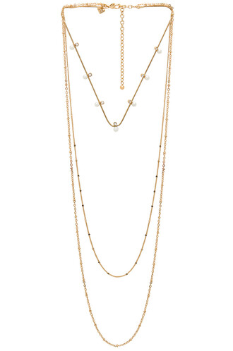 stone necklace pearl necklace metallic gold jewels