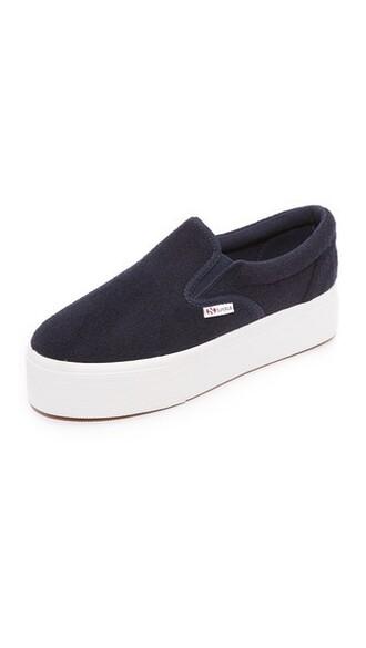 sneakers navy wool shoes