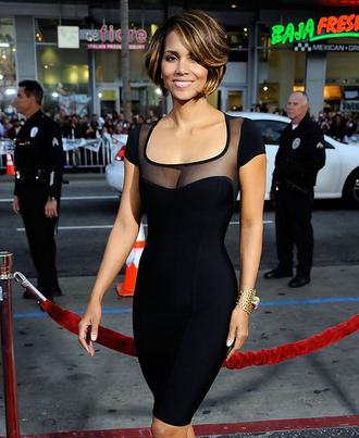 dress bqueen fashion sexy chic party mesh black elegant bandage bandage dress evening dress