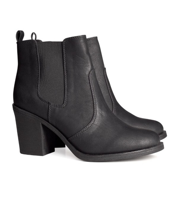 shoes black chelsea boots