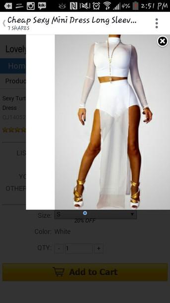 dress all white dress