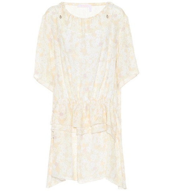 See By Chloé Floral-printed crêpe dress in white