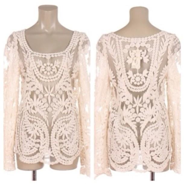 Blouse Lace Crochet 34