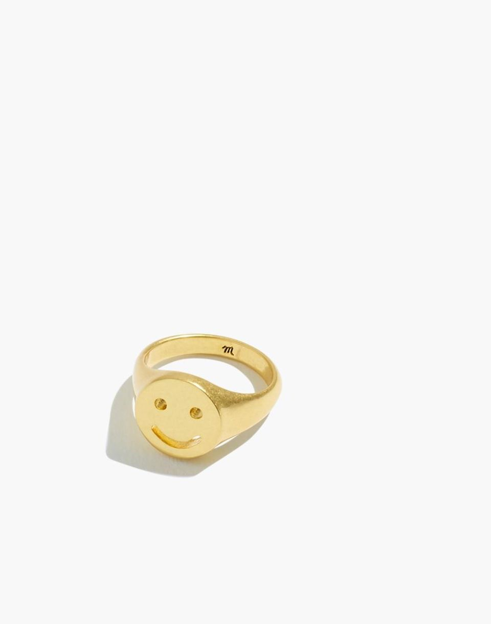 Smiley Face Signet Ring