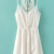 White Spaghetti Straps Buttons Front Chiffon Dress - Sheinside.com
